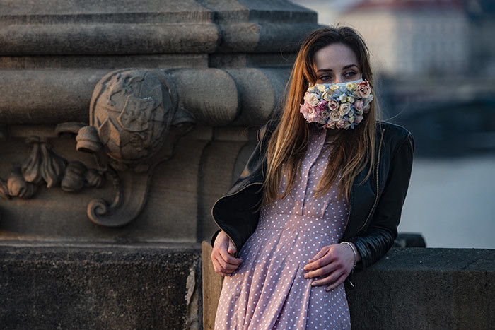 woman wearing a face mask stands on the harles ridge on arch 28 2020 in rague where most activities slowed down or came to a halt due to the spread of the novel coronavirus 19 hoto by ichal izek