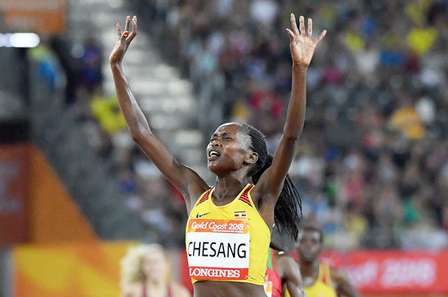 gandas tella hesang gold wins the athletics womens 10 000m final during the 2018 old oast ommonwealth ames at the arrara tadium on the old oast on pril 9 2018