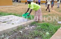 Placentas dumped in the open at Kibuku health facility