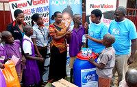 Vision Group,UHMG  donate to Kireka school