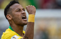 Diving school! Neymar teaches kids to fall and roll