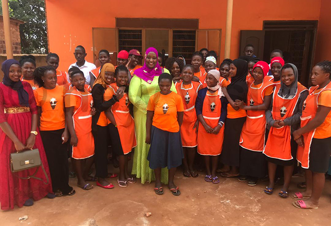 s ulthum abunya uzaata with the women she meet during the meeting on others ay hoto by ictoria amutebi