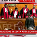 Mixed reactions in Kenya after court ruling
