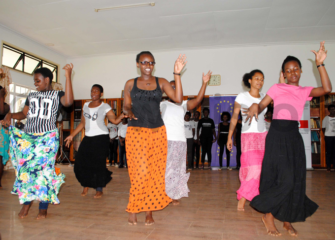 tudents entertaining the guests during the celebrations hoto by ary ansiime