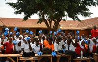 Over 2500 school girls get free sanitary pads