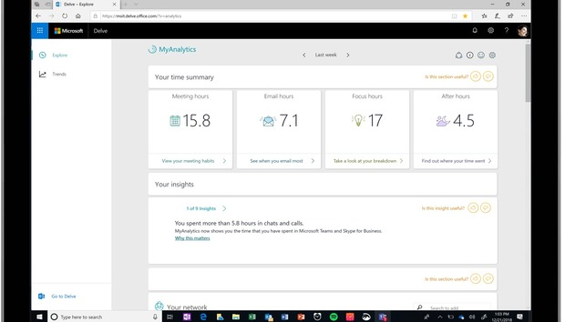 Microsoft's MyAnalytics work assistant now encourages you to slow down and focus