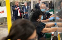 Trump urges US to reopen as daily death toll spikes