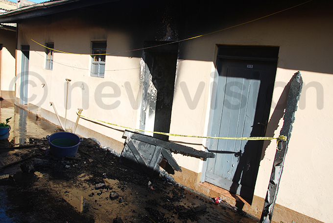 he fire consumed a number of neighbouring rooms hoto by ennis jwee