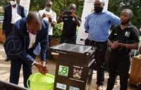 COVID-19: Makerere invents automated hand washing kit