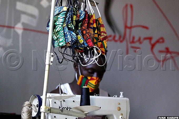 ome of the finished masks ach costs sh3000
