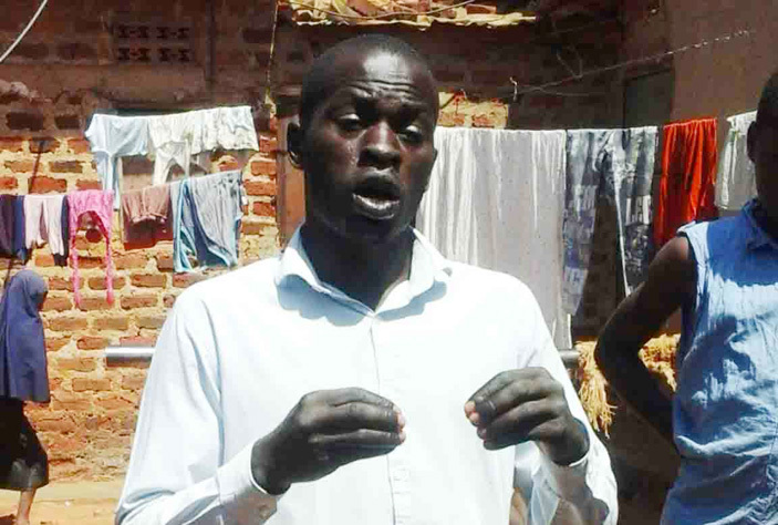 li anyama at his home in ofia  usia district he was explaining how he contracted cholera last year