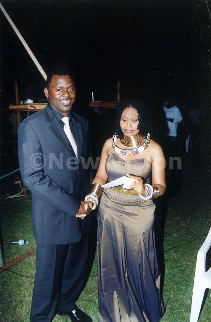 harlie ubega and haka haka during the  awards at unyonyo in ctober 2003