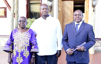 President Museveni holds talks with Mumbere