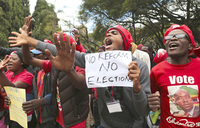 Zimbabwe opposition protest against vote-rigging