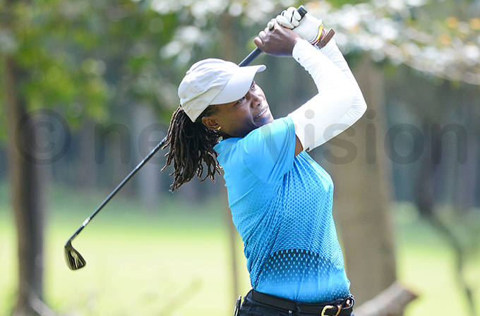 rene akalembe still has hope for ganda despite the 11 strokes they have to cutdown in the last round on aturday hoto by ichael subuga
