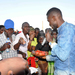 Bobi Wine shares meal with supporters