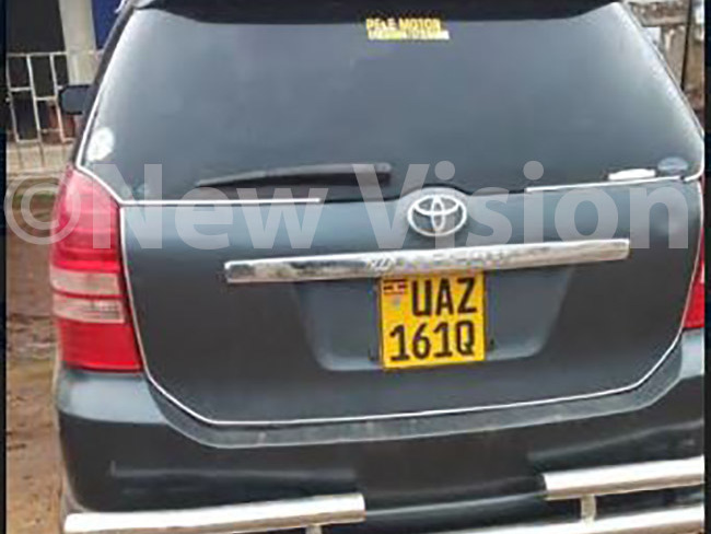 mpounded vehicle used by suspects hoto by avis uyondo