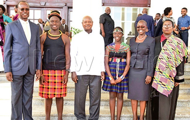 bodo siecondright and her family with resident useveni after being appointed a judge