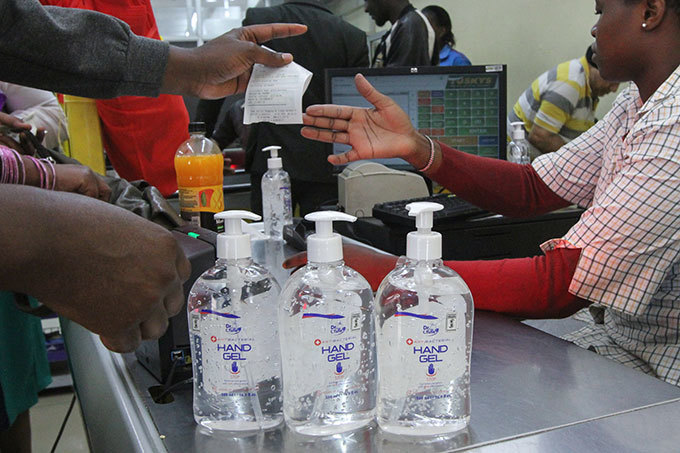 eople buy antiseptic gel at a supermarket after the first enyan patient of the 19 coronavirus reported in airobi enya on arch 14 2020  enya announced on arch 13 2020 the first confirmed case of coronavirus in ast frica as the region so far unscathed by the global pandemic scaled up emergency measures to contain its spread  27yearold enyan woman tested positive for the virus on arch 12 in airobi a week after returning from the nited tates via ondon hoto