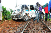 One killed in train-taxi crash in Kampala
