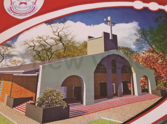 n artistic impression of the schools new chapel