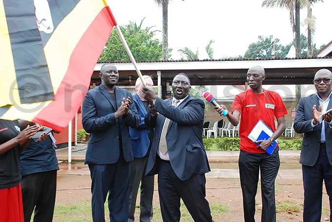 he permanent secretary in the ministry of ethics and integrity lex wamgamoi kello flagging off the expedition hoto by imon eter umwine