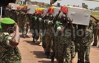 In pictures: Slain UPDF soldiers return home