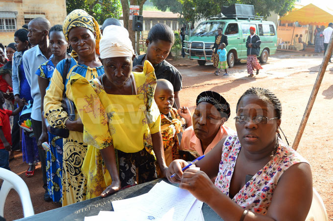 medic attends to patients during the medical camp