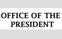 Tender notice from the Office of the President