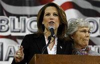 US presidential hopeful Bachmann ends campaign