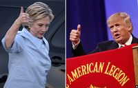 Clinton, Trump kick off their race to election finish