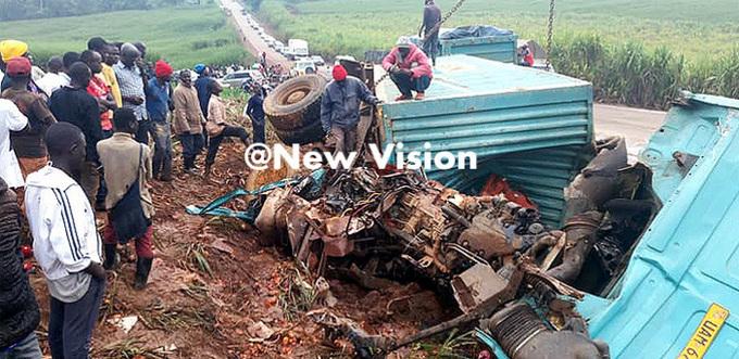 scene of death at itigoma following the headon crash ile photo