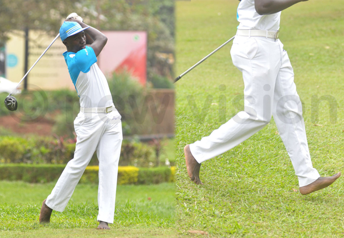 uhumuza abandoned his shoes and returned a decent score but his first round 85 undid him missing the cut hoto by ichael subuga