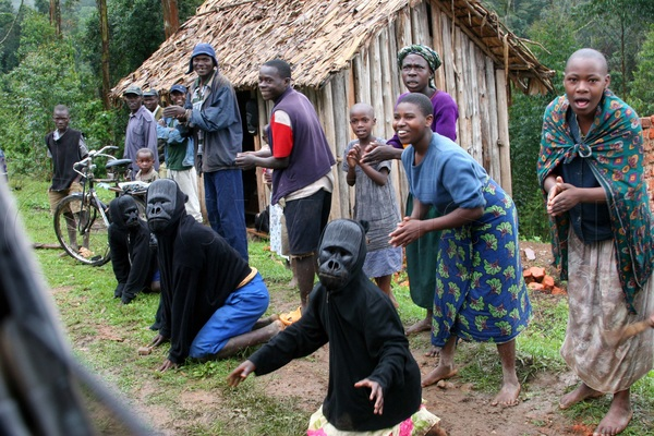 The Bwindi community earn a living from tourism