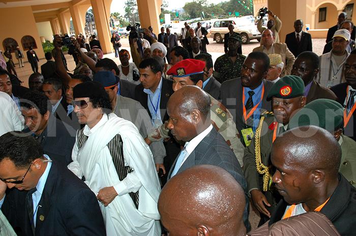 ld ampala ational mosque  pening resident useveni   uammar addafi arrive 200308