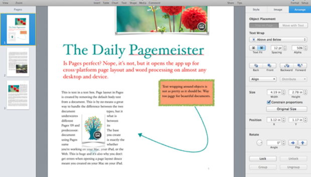 Pages 5 0 for Mac: Apple writes a new chapter for its word