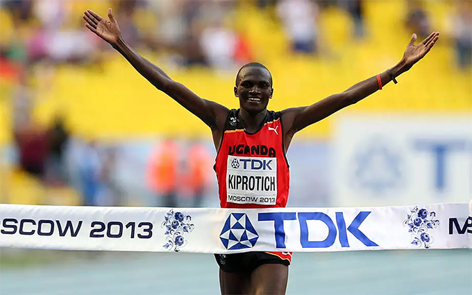 tephen iprotich tasted orld hampionship gold in the 2013 games in oscow  hoto