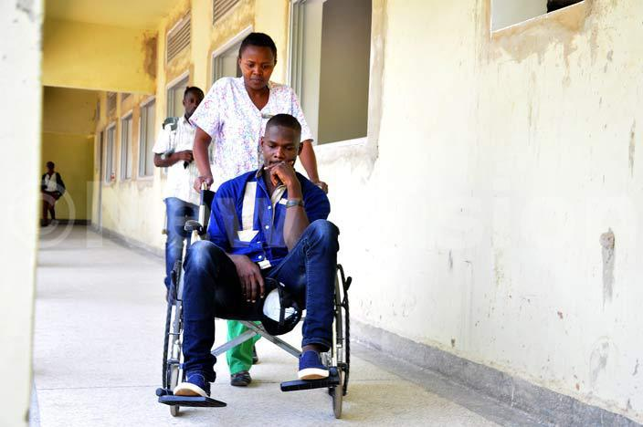 ndrew wanga seated in a heel chair during his admission at ampala ospital ololo where he was scheduled for a yet to be scheduled operation wanga said he needed time to prepare mentally for the procedure