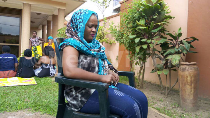 aris sister ulah assan speaking to media hotos by ilson anishimwe