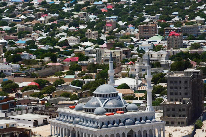 n aerial view of the capital ogadishu hoto by ddie sejjoba