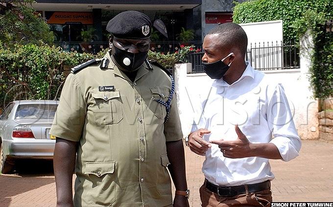 red nanga interacting with a journalist at ganda edia entre