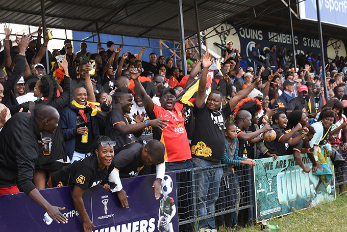 gandan fans had reason to celebrate in the second half but the joy was shortlived hoto by ohnson ere