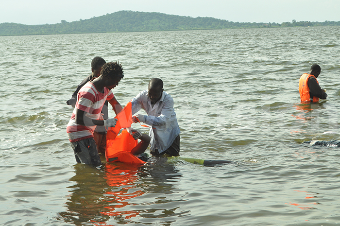 body is retrieved from the water