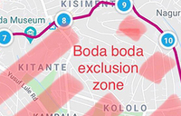KCCA releases new map for boda free zone