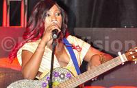 Irene Ntale in studio with Sauti Sol
