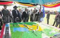 Standard gauge railway construction launched