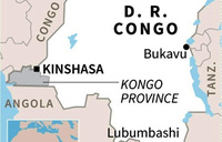 Floods in DR Congo kill at least 50: provincial governor
