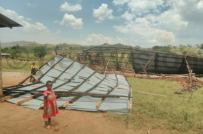 everal roofs were blown of houses hoto by smael asooha