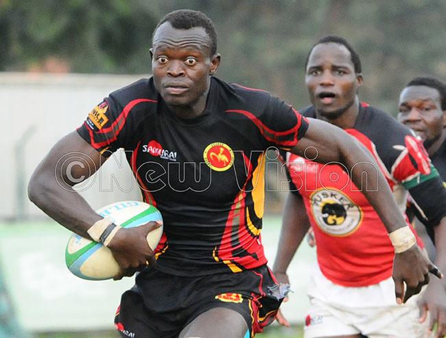 harles huru in action for the ugby ranes hoto by palanyi sentongo