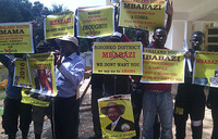 Museveni supporters hold demonstration in Kampala